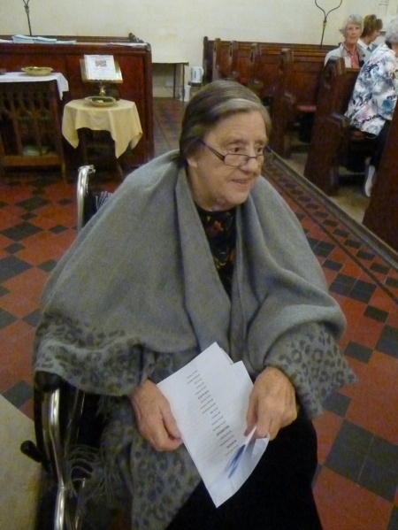 Di Sorrill at the recorder concert in memory of her husband, David September 10 2016