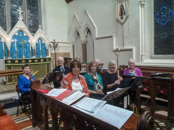 the Sorbie Recorder Group ensemble for the concert September 10 2016